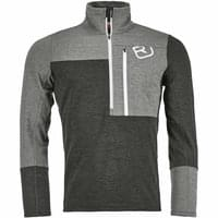 Textile ORTOVOX ORTOVOX FLEECE LIGHT ZIP NECK M GREY BLEND 20 - Ekosport