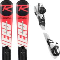 ROSSIGNOL HERO JUNIOR (KID-X) + KID-X 4 B76 BLACK WHITE 20