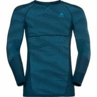 ODLO T-SHIRT ML PERFORMANCE BLACKCOMB POSEIDON - BLUE JEWEL - ATOMIC BLUE 19