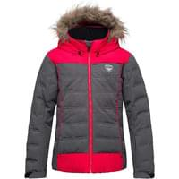 ROSSIGNOL GIRL BB POLYDOWN HEATHER JKT HEATHER BLACK 19