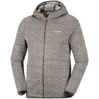 Vêtement polaire COLUMBIA COLUMBIA BOUBIOZ HOODED FULL ZIP FLEECE PEATMOSS 19 - Ekosport