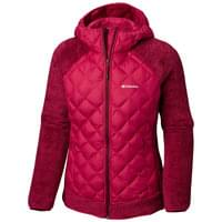 Haut COLUMBIA COLUMBIA TECHY HYBRID FLEECE POMEGRANATE/RICH WINE STP 19 - Ekosport