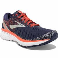 BROOKS GHOST 11 W NAVY/CORAL/GREY 19