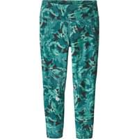 PATAGONIA W'S CENTERED CROPS ABSTRACT JUNGLE TASMANIAN TEAL 19