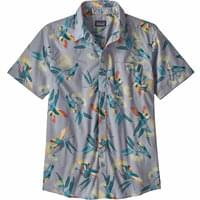 PATAGONIA M'S GO TO SHIRT PARROTS GHOST PURPLE 19
