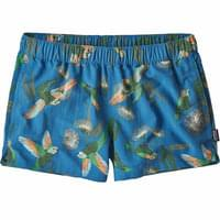 PATAGONIA W'S BARELY BAGGIES SHORTS PARROTS PORT BLUE 19