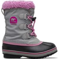 SOREL YOOT PAC NYLON JR CHROME GREY ORCHID 19