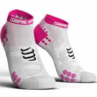 COMPRESSPORT PRORACING SOCKS V3.0 RUN LOW WHITE/PINK 19