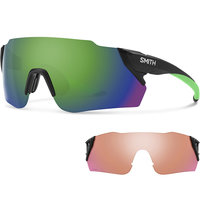 SMITH ATTACK MAX MATTE BLACK REACTOR SUN GREEN MIRROR 19
