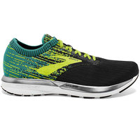 BROOKS RICOCHET BLACK/LIME/BLUE GRASS 19