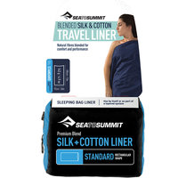 SEA TO SUMMIT DRAP DE SAC SOIE COTON LONG NAVY BLUE 20