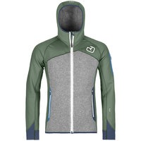 Vêtement polaire ORTOVOX ORTOVOX FLEECE PLUS HOODY M GREEN FOREST 20 - Ekosport