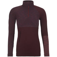 BU TEXTILE ORTOVOX ORTOVOX 230 COMPETITION ZIP NECK W DARK WINE BLEND 21 - Ekosport