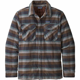 PATAGONIA M'S INSULATED FJORD FLANNEL JKT OBSERVER: INK BLACK 20