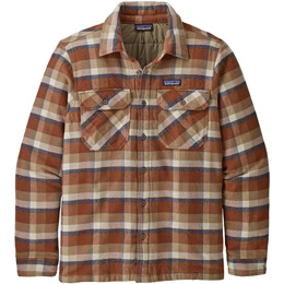 PATAGONIA M'S INSULATED FJORD FLANNEL JKT OBSERVER: MOJAVE KHAKI 20