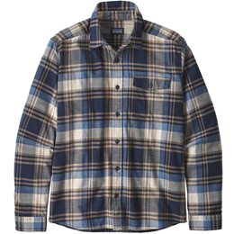 PATAGONIA M'S LW FJORD FLANNEL SHIRT BUTTES: NEO NAVY 20
