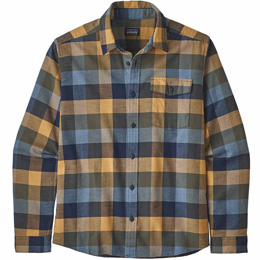 PATAGONIA M'S LW FJORD FLANNEL SHIRT UNBROKEN: NEO NAVY 20