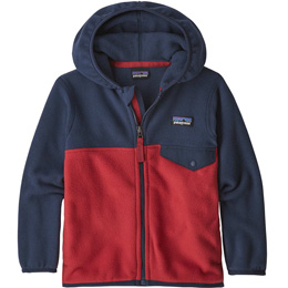 PATAGONIA BABY MICRO D SNAPT JKT FIRE W/NEO NAVY 20