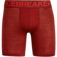 ICEBREAKER ANATOMICA ZONE LONG BOXERS SIENNA/CHILI RED 19