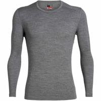 ICEBREAKER MENS 260 TECH LS CREWE GRITSTONE HEATHER 20