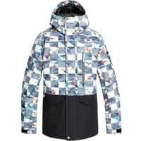 QUIKSILVER MISSION PRINTED BLOCK JK BARN RED ONGRID 20