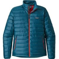 PATAGONIA DOWN SWEATER WS BIG SUR BLUE/ FIRE RED 19