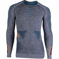 UYN AMBITYON UW SHIRT LG SL BLK/ATLANTIC/ORANGE SHINY 20