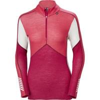 HELLY HANSEN HH LIFA MERINO 1/2 ZIP W PERSIAN RED 19