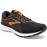 BROOKS GHOST 12 BLACK/TURBULENCE/ORANGE 20
