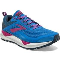 BROOKS CASCADIA 14 W BLUE ASTER/BEETROOT/GREY