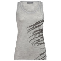 ICEBREAKER WMNS TECH LITE TANK BIRDS IN FLIGHT BLIZZARD HEATHER 20