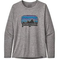 PATAGONIA W'S L/S CAP COOL DAILY GRAPHIC SHIRT FITZ ROY FAR OUT:FEATHER GREY 20