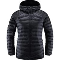 HAGLÖFS ESSENS DOWN HOOD WOMEN TRUE BLACK/MAGNETITE 19
