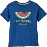 PATAGONIA BABY LIVE SIMPLY ORGANIC T-SHIRT LIVE SIMPLY MELON:SUPERIOR BLUE 20