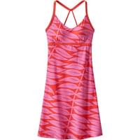 PATAGONIA W'S SUNDOWN SALLY DRESS EUCALYPTUS FRONDS:CATALAN CORAL 20