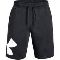 UNDER ARMOUR RIVAL FLEECE LOGO SWEATSHORT BLACK / WHITE 20