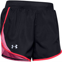 UNDER ARMOUR W UA FLY BY 2.0 SHORT BLACK / LIPSTICK / REFLECTIVE 20