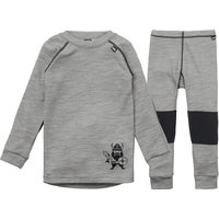 HELLY HANSEN K HH LIFA MERINO SET 2 JR GREY MELANGE 20