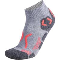 UYN LADY OUTDOOR EXPLORER LOW CUT SOCKS PEARL GREY/CORAL FLUO 20