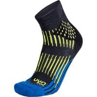 UYN MAN RUN SHOCKWAVE SOCKS ANTHRACITE/ROYAL BLUE/YELLOW FLUO 20