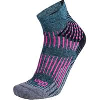 UYN LADY RUN SHOCKWAVE SOCKS TURQUOISE MELANGE/GREY/PINK 20