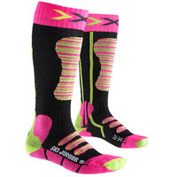 X-SOCKS SKI JUNIOR FUSCHIA/JAUNE 20