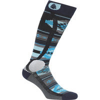 PICTURE WOOLING SOCKS BLUE 20