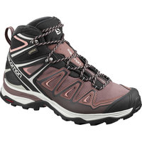 SALOMON X ULTRA 3 MID GTX W PEPPERCORN/BLACK/CORAL ALMOND 20