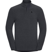 Vêtement polaire ODLO ODLO PULL 1/2 ZIP ROY SHALE GREY/BLACK STRIPES 21 - Ekosport
