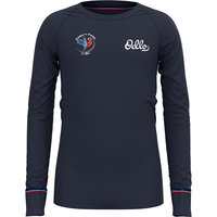 Boutique ODLO ODLO TS ML ACTIVE WARM ORIGINALS KIDS DIVING NAVY/PLACED PRINT 21 - Ekosport