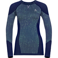 Boutique ODLO ODLO T-SHIRT ML BLACKCOMB W BLUE TATTOO/SPACE DYE 21  - Ekosport