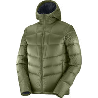 Textile - accessoires SALOMON SALOMON TRANSITION DOWN HOODIE M OLIVE NIGHT 21 - Ekosport