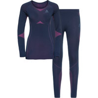 Sous vêtement thermique ODLO ODLO ENSEMBLE PERFORMANCE EVOLUTION W DIVING NAVY/BEETROOT PURPLE 21 - Ekosport