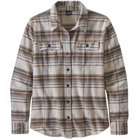 PATAGONIA W'S L/S FJORD FLANNEL SHIRT CABIN TIME BIRCH WHITE 21